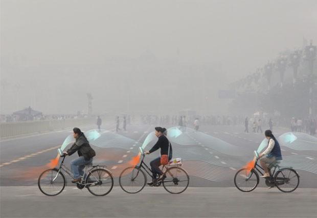 Pequim terá bicicletas que despoluem o ar (Foto: Divulgação)