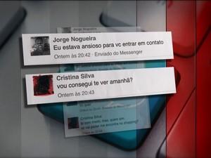 Acusado trocou mensagens com policial (Foto: Reprodução GloboNews)
