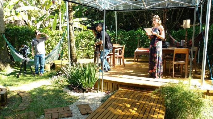 Equipe durante as gravações do Mistura  (Foto: RBS TV/Divulgação )
