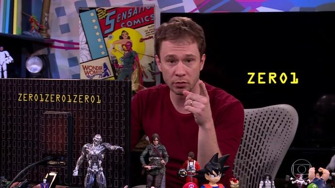 Tiago Leifert apresenta o Zero1 (Foto: TV Globo)