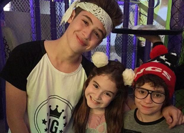João Guilherme, Sophia Valverde e Kevin Vechiatto (Foto: Reprodução/Instagram)