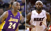 Kobe Bryant e Lebron James lideram equipe ideal da temporada (Getty Images)