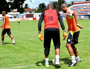 jogadores do América-MG no treino em Fortaleza (Foto: Divulgação / Site Oficial)