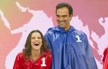 Tadeu Schmidt e Ingrid Guimarães entram na brincadeira