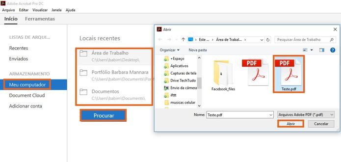 Abra o arquivo em PDF que deseja editar no Adobe Acrobat (Foto: Reprodução/Barbara Mannara)