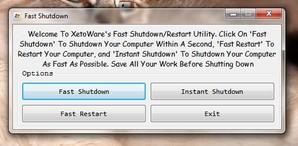 xeroware fast shutdown