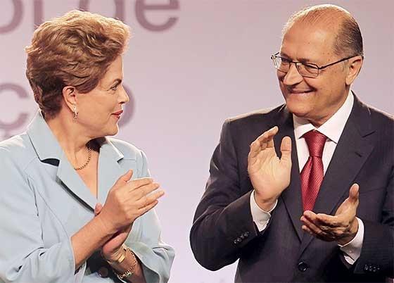 Dilma Rousseff e Geraldo Alckmin  (Foto: Sergio Castro/Estadão Conteúdo)