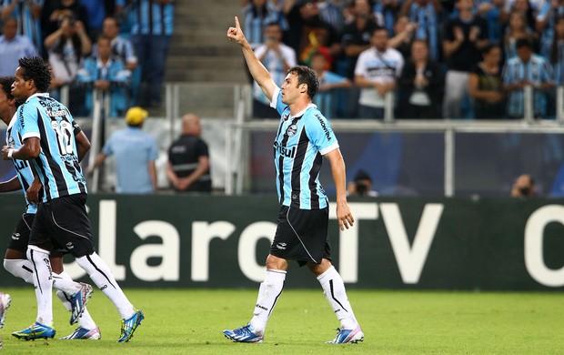 Kleber comemora gol marcado pelo Grêmio contra o Caxias (Foto: Lucas Uebel/Grêmio FBPA)