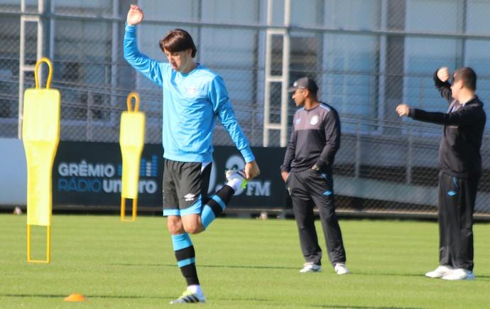 Pedro Geromel Roger Machado Grêmio (Foto: Eduardo Moura/GloboEsporte.com)