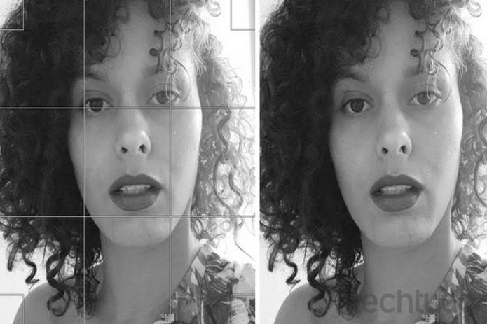 Quando o modelo estiver no meio da foto, deixe olhos no terço superior  (Foto: Reprodução/Raquel Freire)