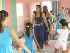 Educadora física ministra aulas de ballet para crianças em Marabá, PA