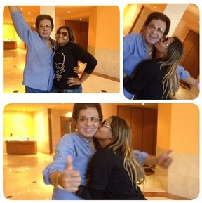 Gaby Amarantos e Reginaldo Rossi (Foto: Instagram / Reprodução)