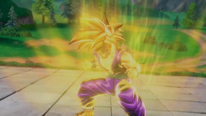 Dragon Ball Xenoverse: derrote Piccolo e Goku para que Gohan se transforme em Super Sayajin 2 (Foto: Reprdoução/Vinícius Mathias)