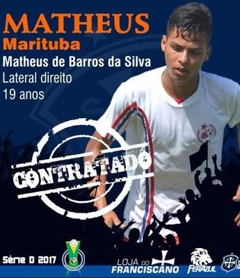 Matheus disputou o Parazão 2017 pelo Águia (Foto: Divulgação/São Francisco)
