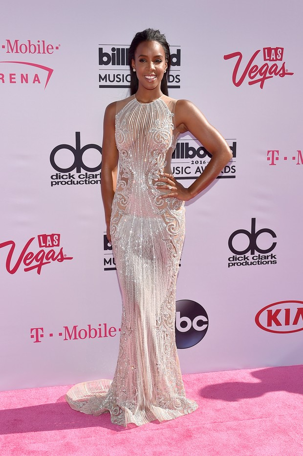 Kelly Rowland no Billboard Music Awards (Foto: AFP)