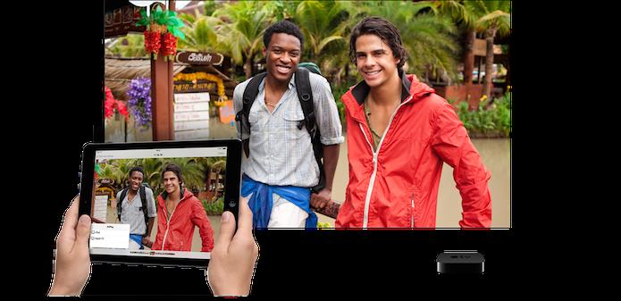 Envio de arquivos de mídia de um iPad para uma Apple TV (Foto: Divulgação/Apple)