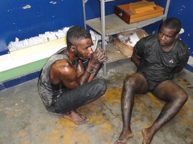 Presos capturados após fuga do Complexo Gericinó (Foto: Divulgação / Seap)