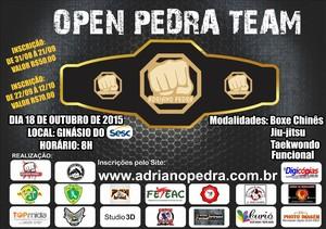 1º Open Pedra Team Artes Marciais (Foto: Divulgação/Adriano Pedra)