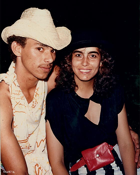 LAÇOS DE FAMÍLIA 1. Humberto e Giselma  no começo do namoro, em 1987 (Foto: Arquivo pessoal)