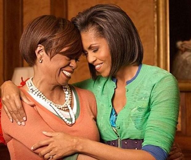 Michelle Obama e sua mãe, Marian (Foto: Reprodução Instagram)
