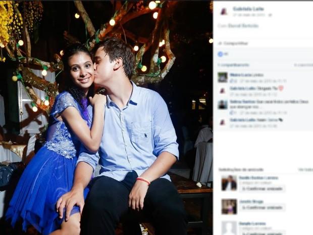 Daniel Bertolo e Gabriela Leite, casal vítima de acidente com ônibus (Foto: Reprodução/Facebook)