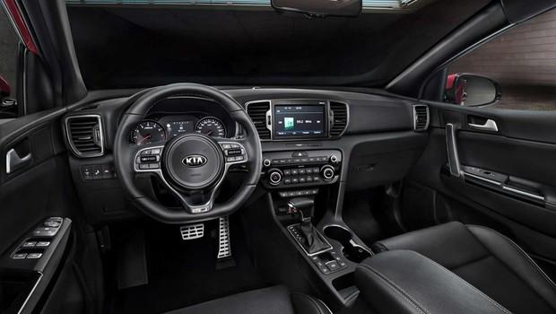 Interior do novo Kia Sportage (Foto: Divulgação)