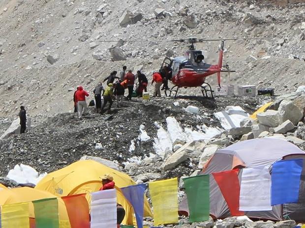 Resgate no Monte Everest (Foto: Rosier Alexandre/Arquivo Pessoal)