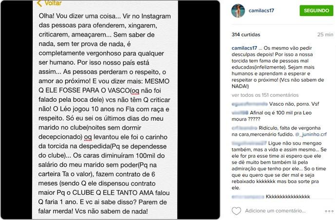 reprodução Instagram - Mulher Léo Moura