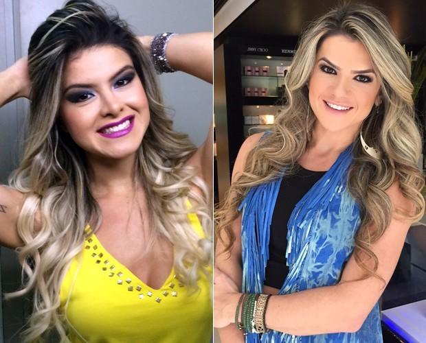 Helen Barros, à esquerda, é parecida com Mirella Santos, à direita (Foto: Arquivo Pessoal e André Schiliró)