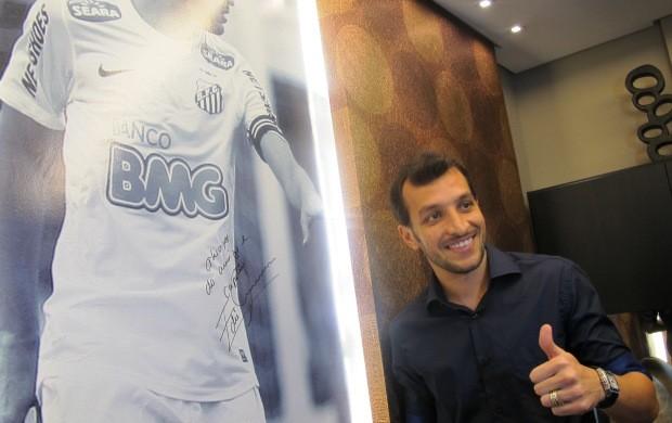 Edu Dracena no Arquidecor (Foto: Lincoln Chaves / Globoesporte.com)