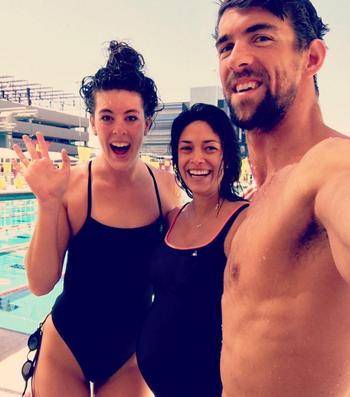 Michael Phelps noiva Nicole Johnson e Allison Schmitt (Foto: Reprodução / Instagram)