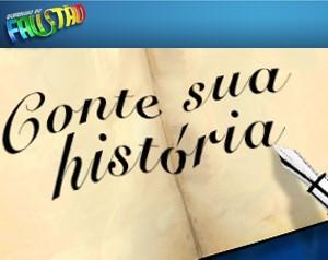 Logo Conta sua História (Foto: Domingão do Faustão / TV Globo)