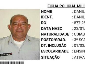 Sargento Danilo Neves Ramires, de 51 anos, foi morto durante o dia na frente de mercado (Foto: Reprodução)
