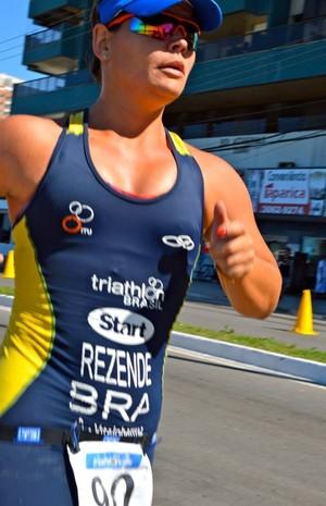 Flávia Rezende triatleta de Uberlândia  (Foto: Flávia Rezende / Arquivo Pessoal )
