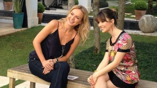 Eliana entrevista Sandy (Foto: Divulgação)