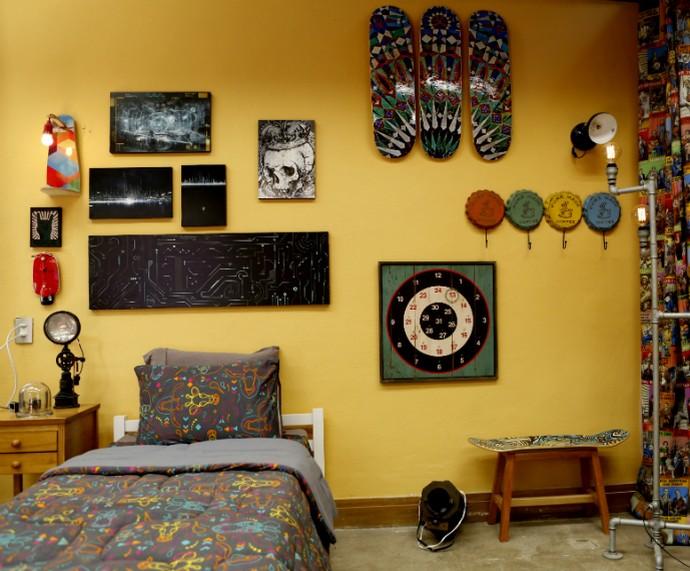 Decoração de parede (Foto: Ellen Soares/Gshow)