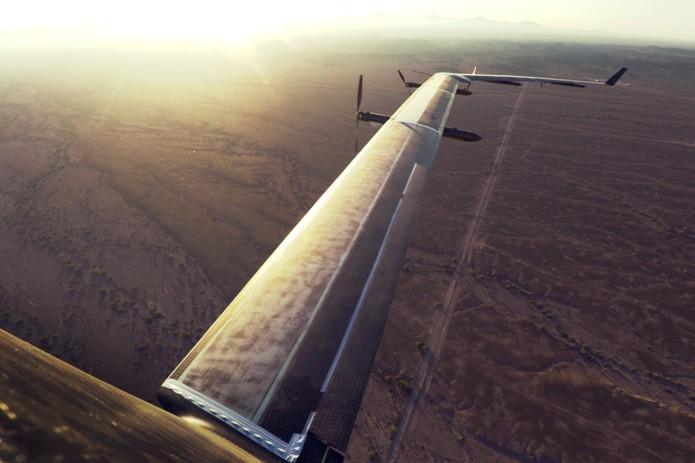 Drone Aquila do Facebook faz seu primeiro voz de testes em tamanho original (Foto: Divulgação/Facebook)