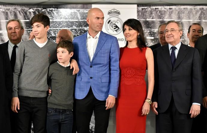 Zidane apresentação Real Madrid (Foto: AFP)