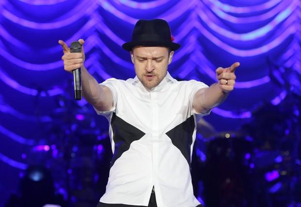 Justin Timberlake no Rock in Rio (Foto: Felipe Panfili/AgNews)