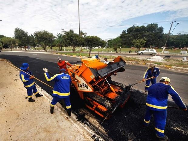 Retorno passa por obras e deve ser aberto para os motoristas em Maio, segundo a Seminf (Foto: Alexandre Fonseca / Seminf)