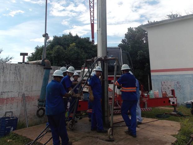 Departamento de Água e Esgoto fez a substituição da bomba  (Foto: Divulgação/ DAE)