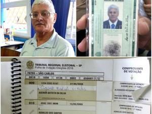 Operador de máquinas Agenor Batista da Silva não conseguiu votar em São Carlos (Foto: Mariana Estevo/G1)