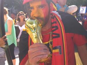Belga acredita na vitória da seleção e deseja próxima fase contra Argentina. (Foto: Yuri Girardi / G1)