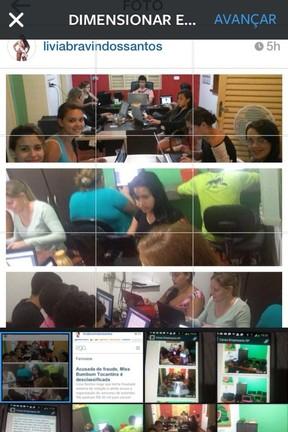 Equipe de Livia Santos votando (Foto: Reprodução/Instagram)