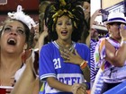 Sheron Menezzes e Gloria Pires se emocionam em desfile da Portela