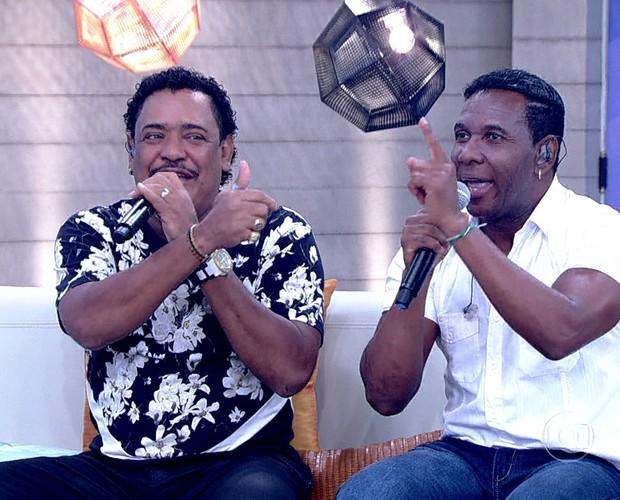 Cumpadi Washington e Beto Jamaica cantam no Encontro (Foto: TV Globo)