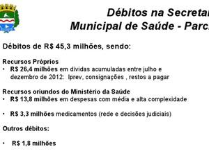 Débito da saúde (Foto: Divulgação/Assessoria)