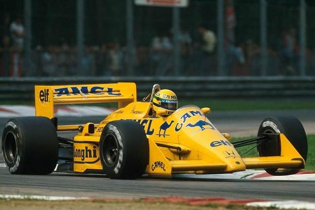 Senna no GP da Itália de 1987 (Foto: Divulgação)