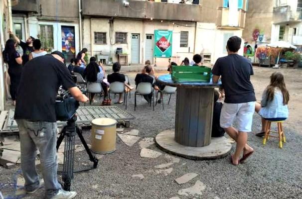 Equipe gravou em ruas representativas de Porto Alegre (Foto: Arquivo Pessoal)