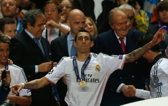 Di maria real madrid liga dos campeões (Foto: Agência AP)